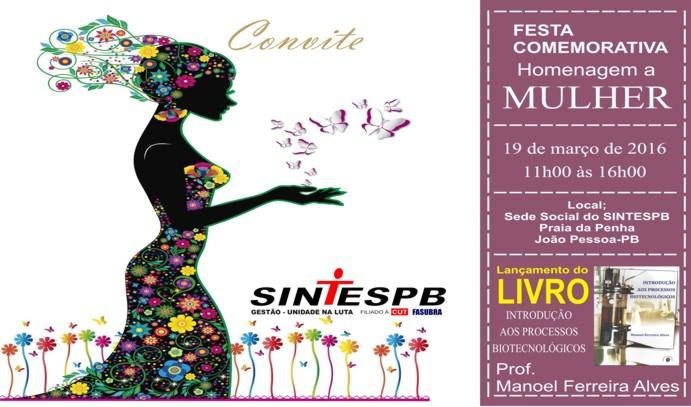 7968e667d3 Seresteira Luzinete será a principal atração da festa em homenagem às  mulheres do SINTEPB