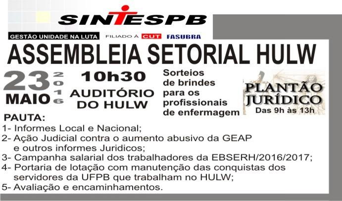 ASSEMBLEIA SETORIAL HULW