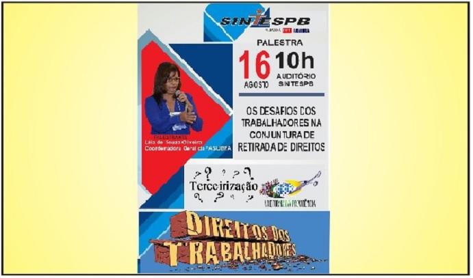 57f15ff3ad Coordenadora geral da FASUBRA fala para os servidores da UFPB sobre  retirada de direitos nesta quarta-feira no SINTESPB