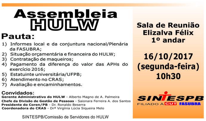 Assembleia HULW - 16 10 2017