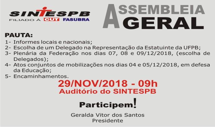 511d7b5221 SINTESPB convoca categoria para mais uma assembleia geral na próxima  quinta-feira